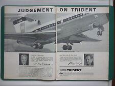 11/1965 PUB HAWKER SIDDELEY AVIATION BEA TRIDENT AIRLINER ORIGINAL AD