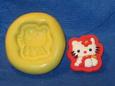 Hello Kitty Mold Resin Clay Candy Food Safe Silicone #527 Chocolate