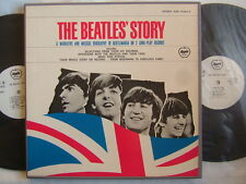 PROMO WHITE LABEL / THE BEATLES STORY / BOX 2LP
