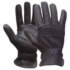 Lee Parks Leather DeerTours Motorcycle Riding Gloves Large 1DTBK-0001L