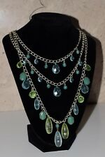 Robert Rose Chandelier Faceted Jewel Bead  Multi Strand Statemeny Necklace