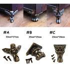 4PCS Antique Brass Jewelry Chest Wood Box Case Feet Leg Corner Protector Decor