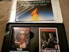 Terminator & T2 Rare Limited Edition VHS Metal Box Set - with exclusive book