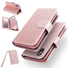 Leather Removable Wallet Magnetic Flip Card Case Cover F iPhone X 8 7 Galaxy S8+