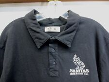 NWOT Mens Sanitas Brewing Polo by American Giant Black 100% Cotton Owl Size XL