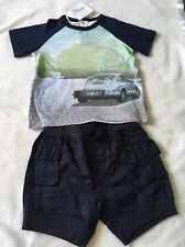 Bebe By Minihaha Baby Boys Short And Top Set. Adjustable Waist . BNWT Size 0