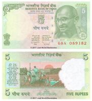India 5 Rupees 2010 P-94Ac Banknotes UNC