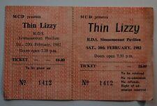 Genuine Thin Lizzy Lynott Complete Concert Ticket RDS Simmonscourt Dublin 1982