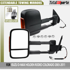 ELectric Extendable Towing Mirrors for Isuzu D-Max DMax Holden Rodeo RA Colorado