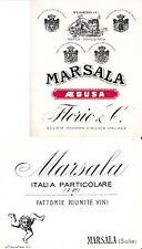 W 070 OLD LABEL-ETICHETTA lotto 2 etichette Marsala