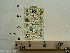 STICKER,DECAL BAMBI WALT DISNEY SHEET WITH STICKERS