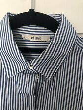 Celine Classic Blue And White Striped Shirt