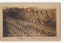 jwe19a: JUG HANDLE TRESTLE CASPAR CA LUMBER CO, two historic 1906 RPPC/postcards