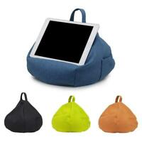 Portable Home Car Tapered Linen Pillow Tablet Cushion Rack Holder for iPad