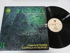 "FANTASIA WALT DISNEY SOUNDTRACK LP VINYL VINILO 12"" 1968 VG/VG DISNEYLAND CLAVE"