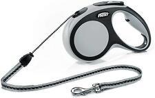 Flexi New Comfort Retractable Cord Lead, Medium, 8 m, Grey