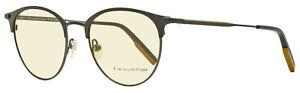 Ermenegildo Zegna Round Eyeglasses EZ5141 001 Matte/Shiny Black 51mm 5141