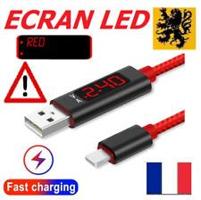 Câble Cordon chargeur RAPIDE USB Iphone 5V 3A 1m Apple 8-pin LED ÉCRAN TESTEUR