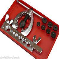 10pc Brake Pipe Flaring Tool Kit Double Single Brake Service Repair 5 - 16mm