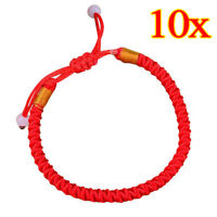 10X Braided Lucky Red String Love Rope Cord Jude Beaded Adjustable Bracelet