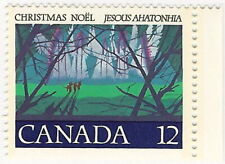 2 Canada Stamps #742 - Angelic Choir 12¢ + #743 - Christ Child 25¢ (1977)