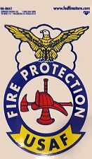 USAF Fire Protection Firefighter Badge Decal