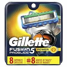 Gillette Fusion Proglide Power Men's Razor Blade Refills 8 Count Factory Sealed