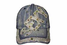 SEXY Denim Rhinestone Studded HAT CAP ..  NEW