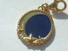 New Thomas Sabo 18ct gold plated silver blue moon & stars charm RRP £59