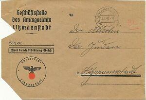Briefumschlag-leer - der Geschäftsstelle des Amtsgerichts Litzmannstadt 1942