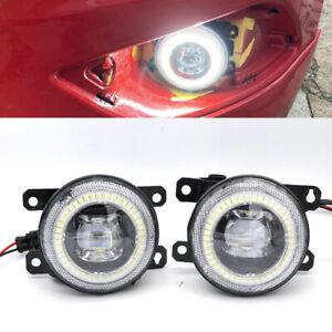 2x Projector 6000k Fog Light Driving Lamp LED For Ford Focus LS LT LV LW ST XR5
