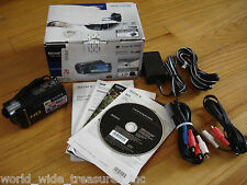 Sony HDR-CX160 High Definition Camcorder Software Manual AC AV Cable Box Bundle