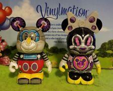 """Disney Vinylmation 3"""" Park Set 3 Robots Lot Minnie Mickey Mouse Bot"""