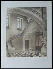 PARIS, ECOLE MILITAIRE - 1911 - PLANCHE ARCHITECTURE - ESCALIER, J. A. GABRIEL