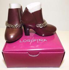 "NIB LORIFINA 20"" Fashion Doll Hasbro Shoes High Heels Brown Silver Chain Dressy"