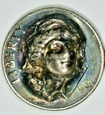 1963 Silver Dime with 3D Liberty Pop Push Punch Out Repousse Coin