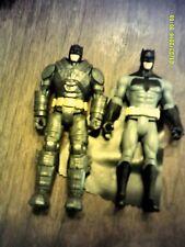 """Batman v Superman: Dawn of Justice Battle Armor Batman 6"""" Figures 2 lot"""