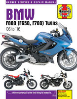 HAYNES 4872 MOTORCYCLE REPAIR MANUAL BMW F650 F700 F800 2006 - 2016