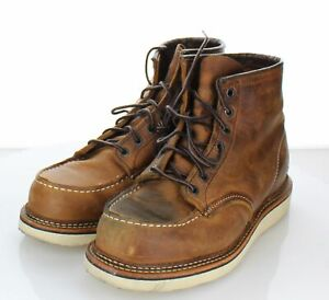 V54 $290 Men's Sz 7 D Red Wing 1907 Classic Moc Toe Leather Boot