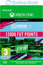 12000 FUT Points - FIFA 19 Microsoft Xbox One Key - 12.000 FIFA Ultimate Team DE
