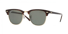 Ray-Ban Clubmaster - Red Havana / Crystal Green Polarized 49mm