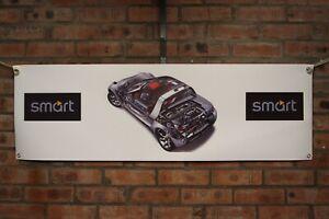 Smart Roadster w452 large pvc heavy duty WORK SHOP BANNER garage   SHOW