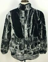 VTG 80s Whimzicals Black Gray Wolf Pack Fleece Sweater Mens Sz M USA Made Boho
