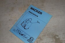 WACKER RSS 800A COMPACTOR ROLLER Parts Manual Book catalog spare SINGLE DRUM
