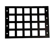 1pc Black Metal Panel Frame for White Keyboard 4x5 5x4 keys 20 keys non Switch