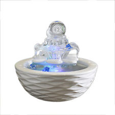 Ceramic Water Tower Indoor Fountains Crystal Glass Humidifier Desktop Home Decor
