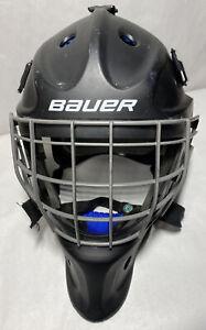 Bauer NME 5 Ice Hockey Goalie Mask Helmet Sr. Senior W/ Padded Bag Preowned