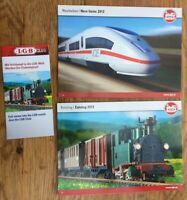LGB Model Railway Main & New Items colour catalogues 2012 & LGB Club brochure