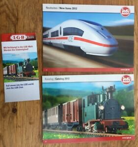 LGB Model Railway Main & New Items colour catalogues 2012 & LGB Club brochure