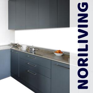 Küchenrückwand Spritzschutz Fliesenspiegel Premium Aluverbund Muster weiss Hart